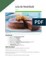 Torta Macia de Nutella