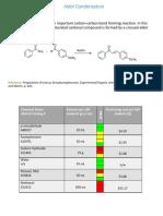 aldol condensation in green chemistry