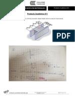 Producto Académico N°1 - Mecánica de Materiales