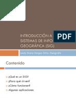Introducción a Los Sistemas de Información Geográfica (