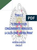 TEMA 3.3 EL CEMENTO