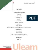 Modelo de Intervención Institucional Funcional en Trabajo Social