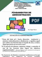 """Fundamentos de La Administraciã""""n"""