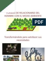 FORMAS DE RELACIONARSE DEL HOMBRE CON EL MEDIO.pptx