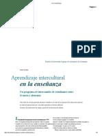Aprendizaja en La Enseñanza Intercultural