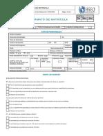 Cal-fm-01-V2 Acta de Matricula Min Trabajo