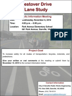 Westover Drive Public Meeting
