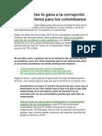 El Desempleo Le Gana a La Corrupción Como Problema Para Los Colombianos