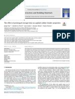 The effect of prolonged storage time on asphalt rubber binder properties
