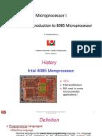 LU- Microprocessor I - Chap3 - Introduction to 8085 Microprocessor - FA2017
