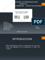 Informe de Conectar Pc a Pc Practica