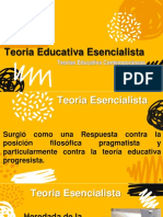 Teoria Educativa Esencialista