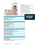 Classroom English for Teachers