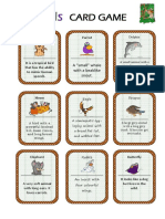 Animals Card Game Activities Promoting Classroom Dynamics Group Form 2952