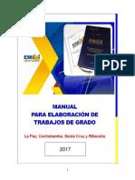 Manual de Elaboracion de Trabajo de Grado Emi-2017