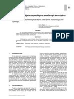 Analisis Del Objeto Arqueologico Morfolo