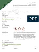 ZP 9F Aerosol Safety Data Sheet English
