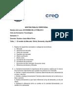 Economía de Lo Público I Taller I Unidad 1 Modelo de Mercado(2)