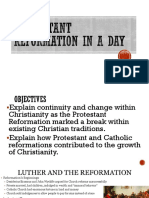 protestant reformation in a day