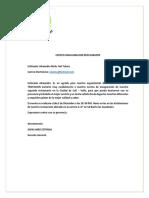 Carta Inauguracion
