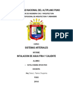 Informe Instalacion de Agua