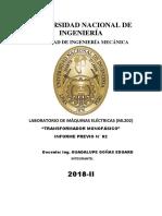 INFORME PREVIO N2 MAQUINAS ELECTRICAS GENERAL UNI