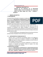 Imemoria Descreptiva IE Inicial Huanuco