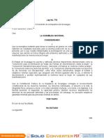 Ley No. 779 Ley Integral contra la Violencia.doc