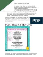 Guide Untuk Hack Font Yang Cantik