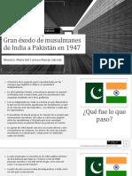 Gran Éxodo de Musulmanes de India a Pakistán