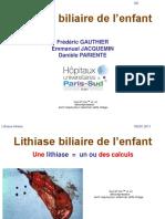 LITHIASE BILIAIRE DE L'ENFANT