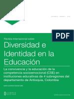 Rendón 2016 La Convivencia y La Educación de La Competencia Socioemocional
