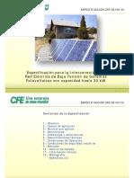 Especificaciones tecnicas CFE