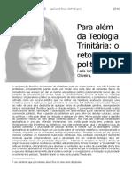 Leila Victória de Oliveira - Para além da Teologia Trinitária (2014)