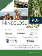 PROGRAM for Mine Closure 2015