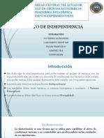 Supuesto de Independencia
