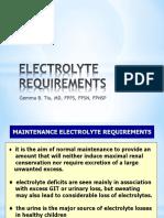 Dr. Tiu - Electrolyte Requirements