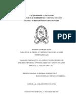 Análisis Comparativa de Los Efectos Del Proceso de Dolarización en La Economía de El Salvador y Ecuador Durante El Período 2000-2002