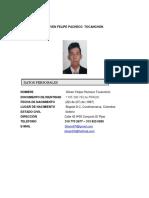 Hoja de Vida de Felipe Pacheco (1)