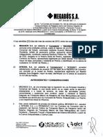 Acta de Terminacion Del Otro Si 7 de 2019 de Integra s.A