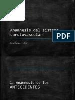 Anamnesis Del Sistema Cardiovascular