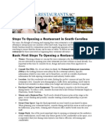 Steps To Opening A Restaurant in South Carolina