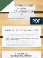 Decentralization and Bureacratization