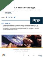 Facebook Has a New Logo
