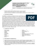Práctica de Laboratorio Nº1-Solubilidad de Compuestos Orgánicos
