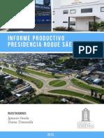 Informe productivo de Presidencia Roque Sáenz Peña