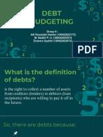 Debt Budgeting REV 1