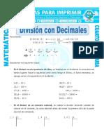 sesion de division con decimales
