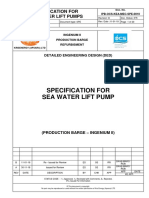 Specification for Sea Water Lift Pumps