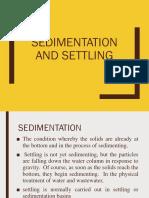 Sedimentation and Settling